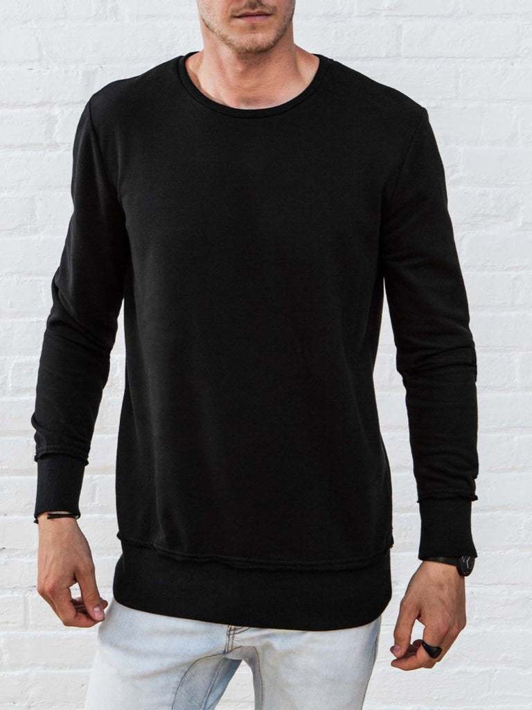 The Best Streetwear Brands and Urban Style Vitaly New Crew Sweatshirt in Black Front