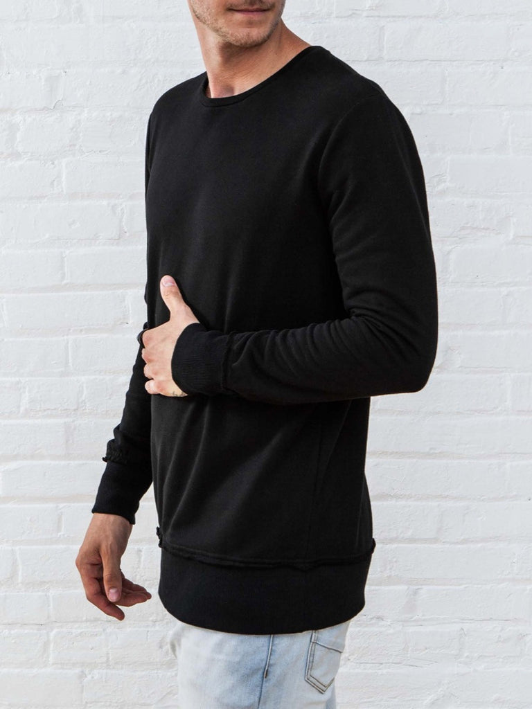 The Best Streetwear Brands and Urban Style Vitaly New Crew Sweatshirt in Black Side