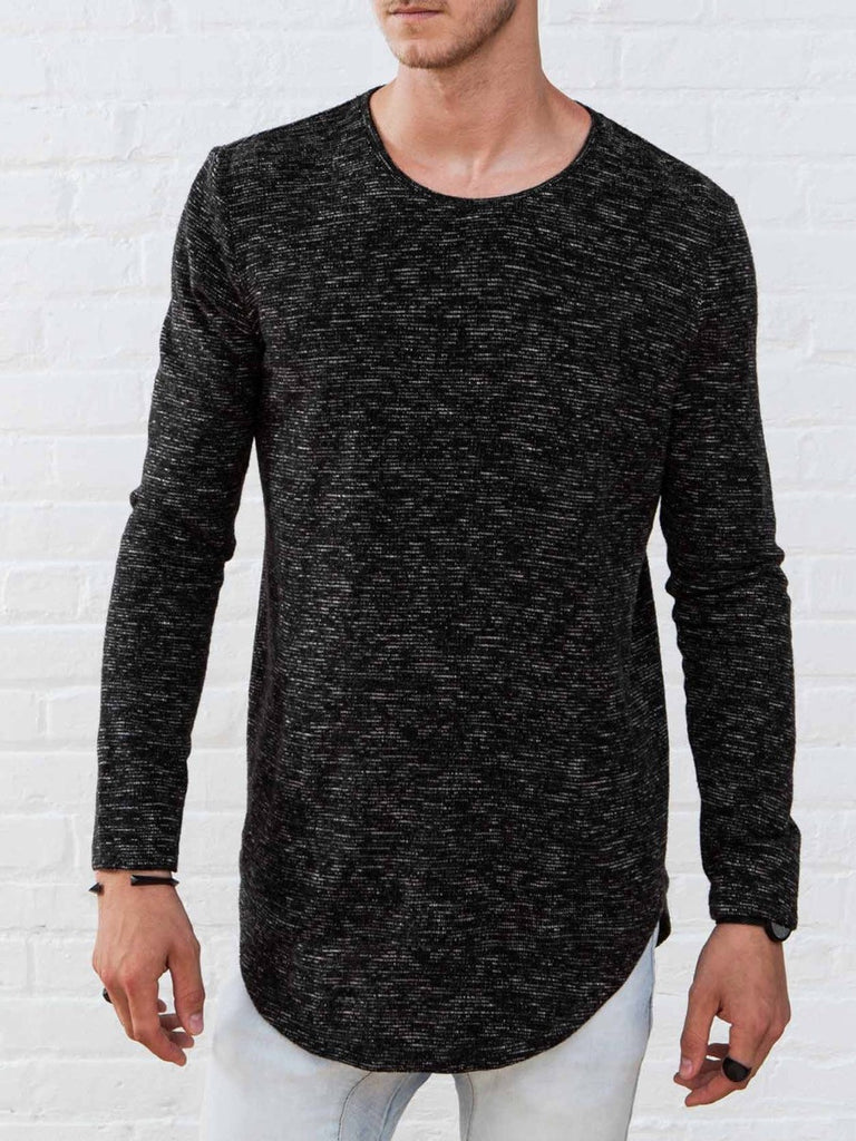 The Best Streetwear Brands and Urban Style Vitaly Scooped Sweater in Static Black Front