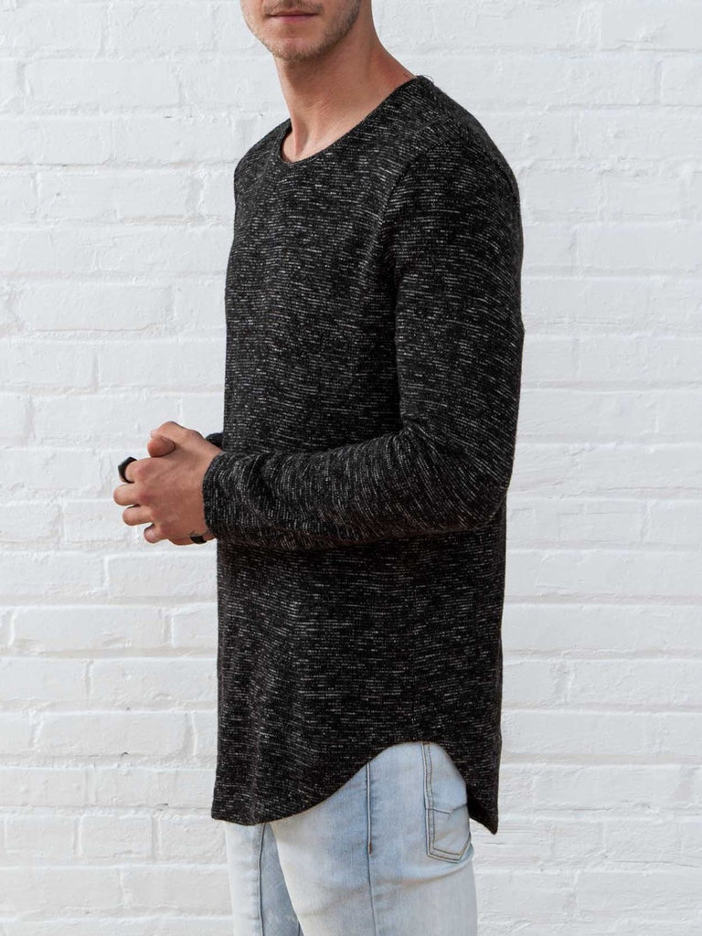 The Best Streetwear Brands and Urban Style Vitaly Scooped Sweater in Static Black Side