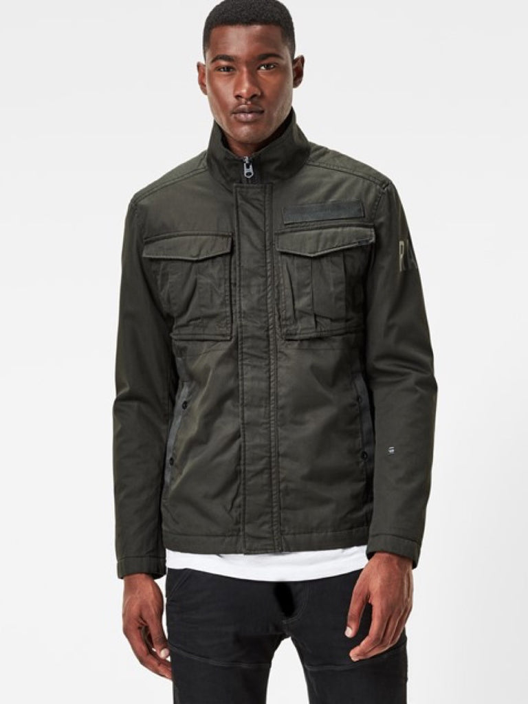 The Best Streetwear and Urban Style in Vancouver G-Star Rovic Overshirt in Asfalt Green Front