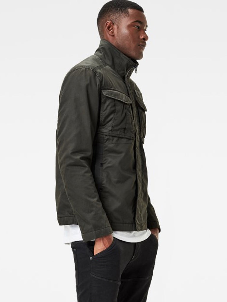 The Best Streetwear and Urban Style in Vancouver G-Star Rovic Overshirt in Asfalt Green Side