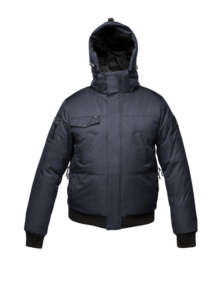 The Best Styles of Jackets and Urban Style Nobis Stanford Downfilled Waterproof Bomber in Navy Crosshatch