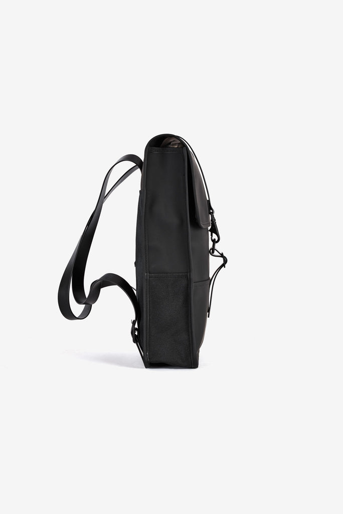 The biggest selection of bags satches murses and backpacks in vancouver Rains Waterproof Backpack Mini in Black Profile