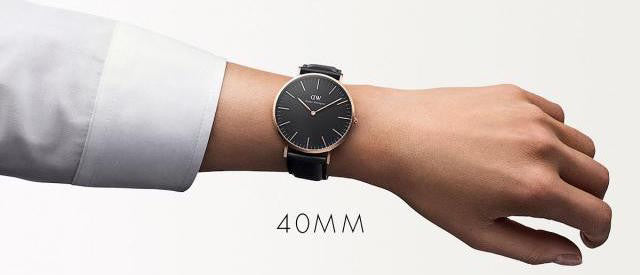 The best watch that matches smart casual and business attire for men daniel wellington classic black sheffield watch with rose gold case - on hand