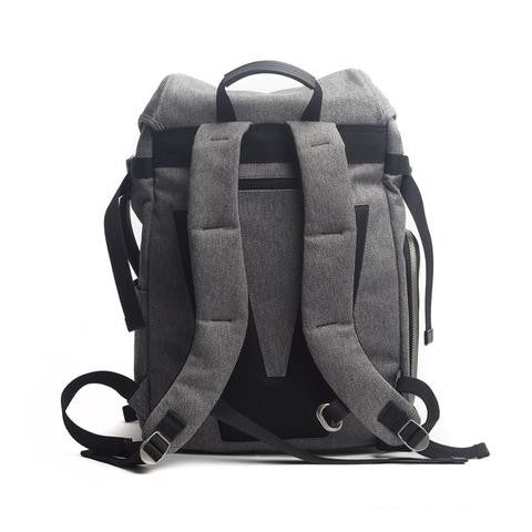 The biggest selection of backpacks satchels and murses in vancouver venque alpine rucksack in grey with black leather back