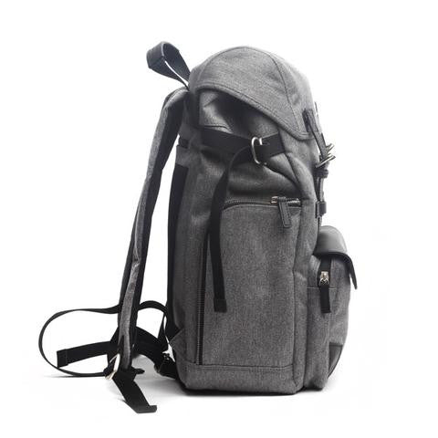 The biggest selection of backpacks satchels and murses in vancouver venque alpine rucksack in grey with black leather profile