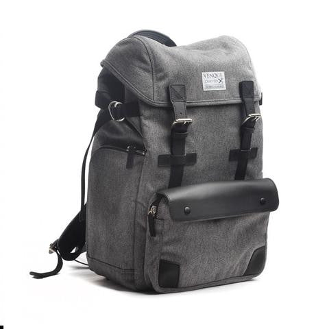 The biggest selection of backpacks satchels and murses in vancouver venque alpine rucksack in grey with black leather side