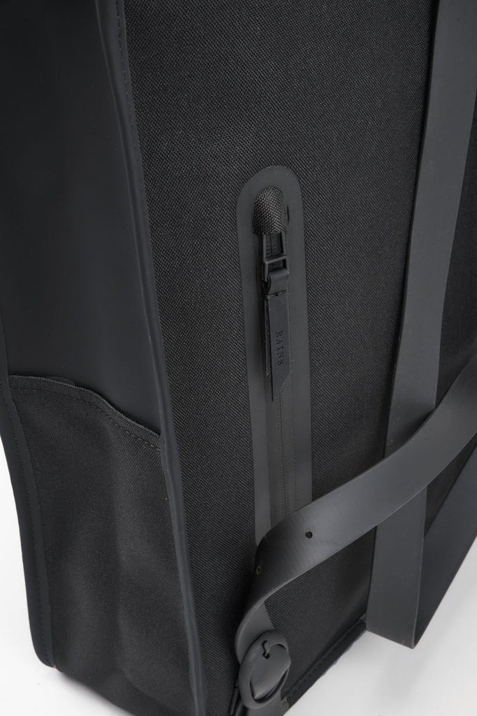 The biggest selection of bags satches murses and backpacks in vancouver Rains Waterproof Backpack Mini in Black Detail