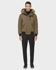RUDSAK ROCKY DOWN BOMBER JACKET IN LIGHT OLIVE