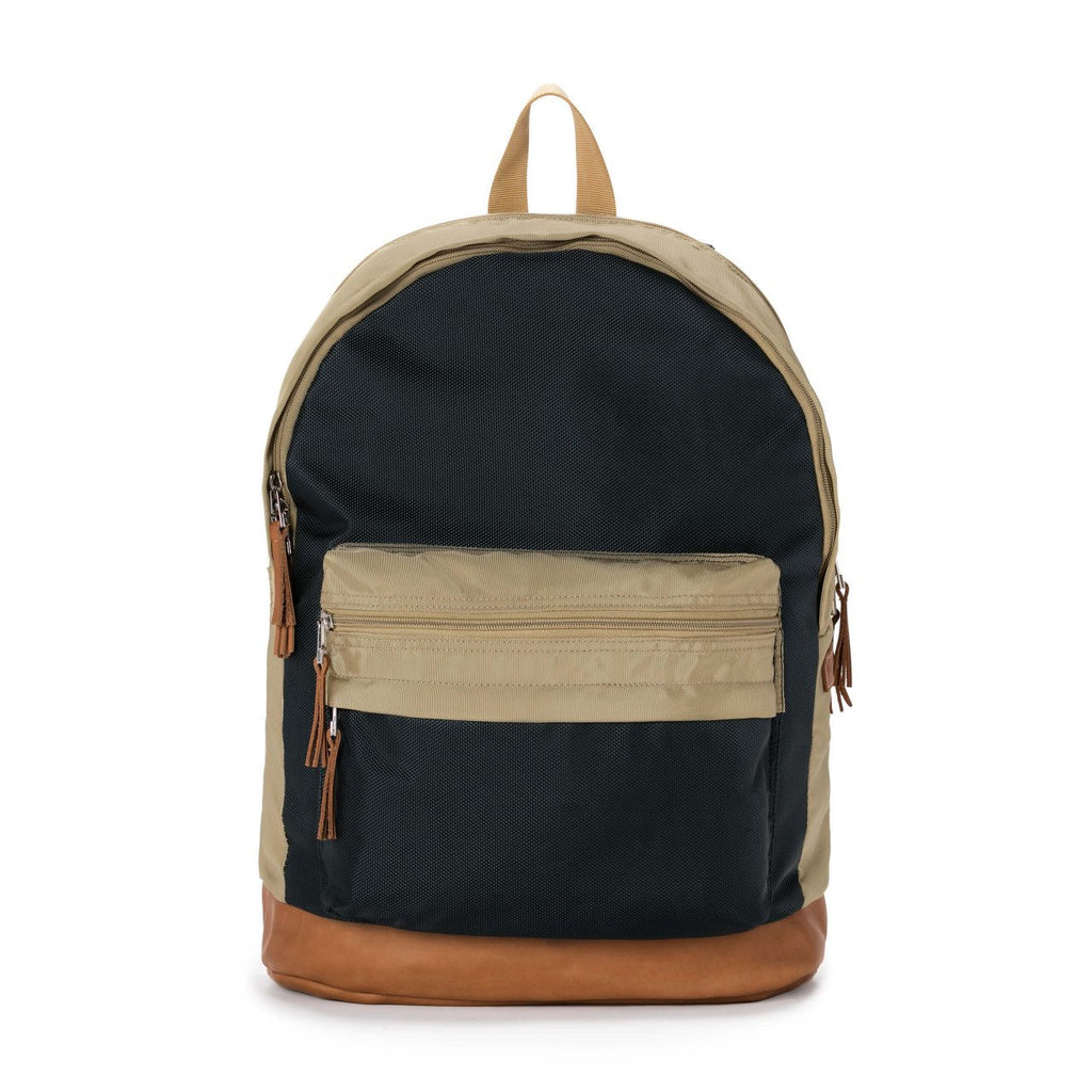 Taikan Lancer Backpack in Navy/Beige/Tan Leather  - 1