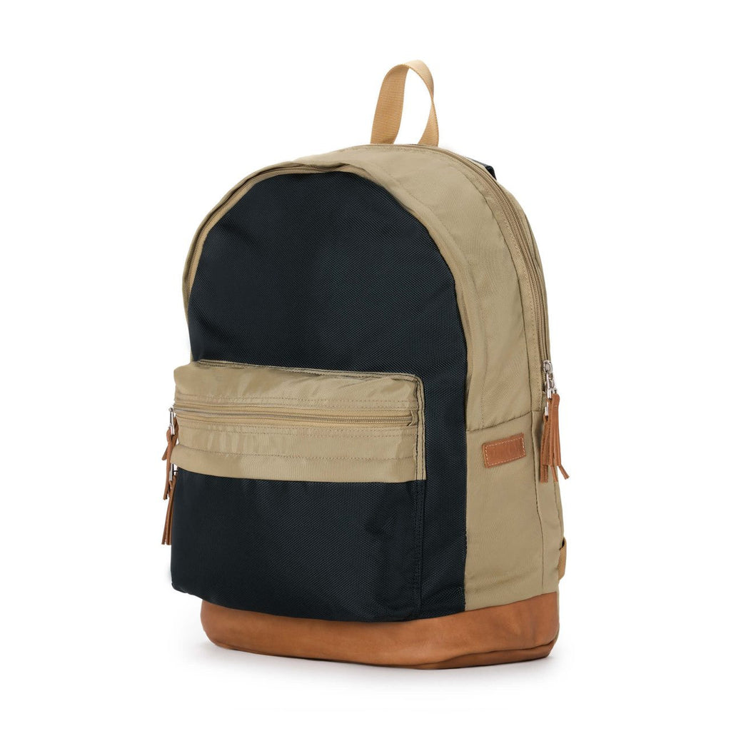 Taikan Lancer Backpack in Navy/Beige/Tan Leather  - 2
