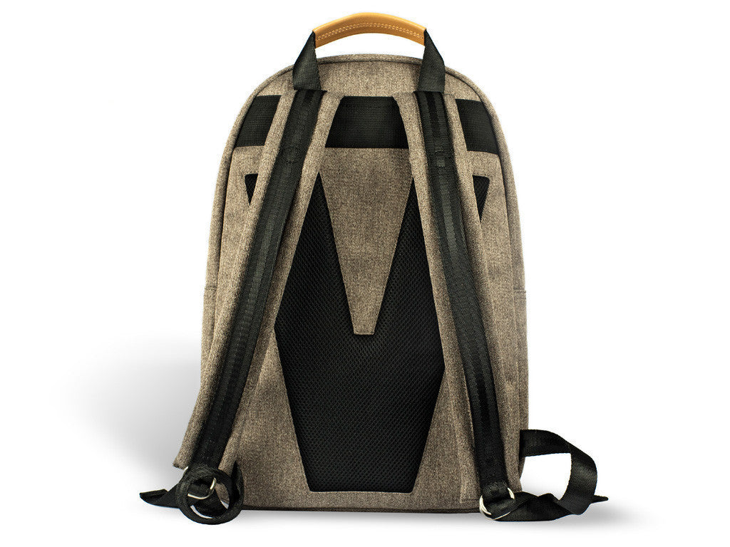 VENQUE CLASSIC BACKPACK IN BROWN WITH BROWN LEATHER  - 3