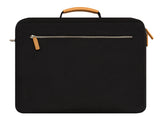 VENQUE MILANO TRAVEL MESSENGER IN BLACK WITH BROWN LEATHER  - 4