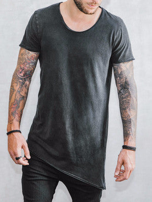 VITALY A-CUT T-SHIRT IN ACID BLACK