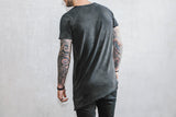 VITALY A-CUT T-SHIRT IN ACID BLACK  - 3