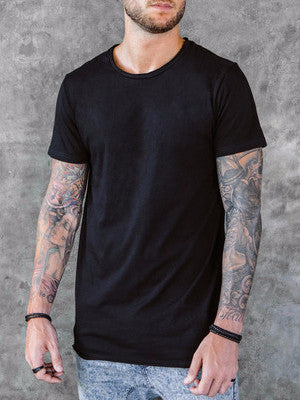VITALY FISHTAIL T-SHIRT IN BLACK  - 2