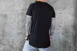 VITALY FISHTAIL T-SHIRT IN BLACK  - 3
