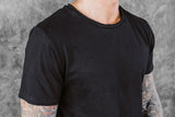 VITALY FISHTAIL T-SHIRT IN BLACK  - 5