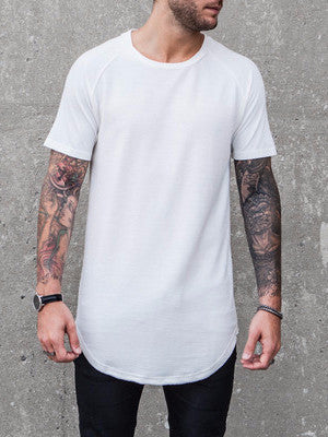 VITALY DOUBLE SCOOP T-SHIRT IN OFF-WHITE  - 1