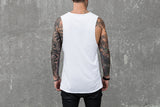 VITALY FISHTAIL SLEEVELESS T-SHIRT IN WHITE  - 3