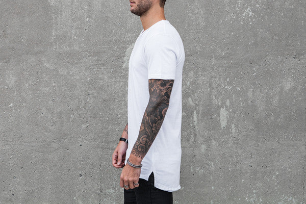 VITALY FISHTAIL T-SHIRT IN WHITE  - 1