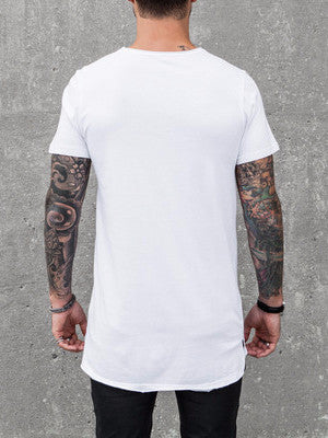 VITALY FISHTAIL T-SHIRT IN WHITE  - 3