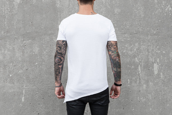 VITALY A-CUT T-SHIRT IN WHITE  - 3