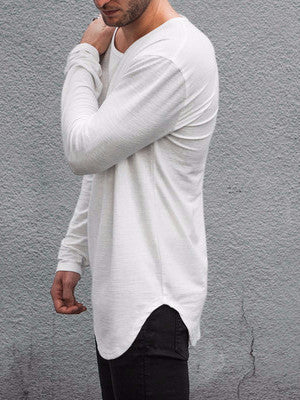 VITALY DOUBLE SCOOP SWEATER IN OFF-WHITE  - 3