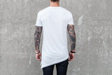 VITALY LAYERED A-CUT FISHTAIL T-SHIRT IN OFF WHITE  - 3