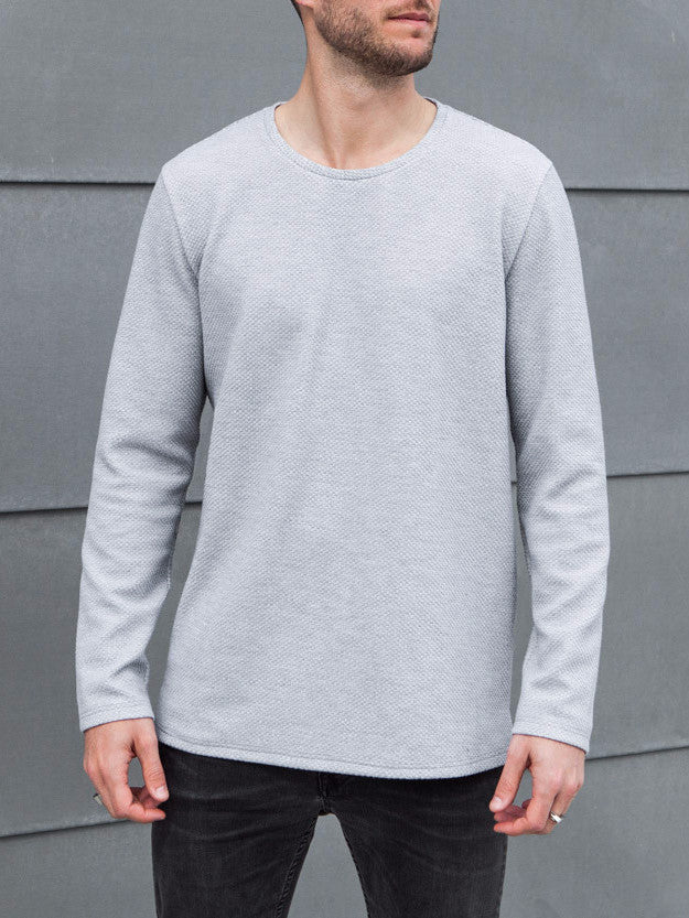VITALY TEXTURED FISHTAIL SWEATER IN GREY  - 2