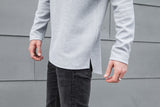 VITALY TEXTURED FISHTAIL SWEATER IN GREY  - 4