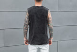 VITALY BOXER SLEEVELESS T-SHIRT IN ACID BLACK  - 3