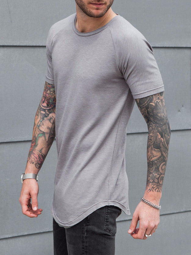 VITALY SCOOPED T-SHIRT IN GREY  - 2