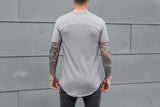 VITALY SCOOPED T-SHIRT IN GREY  - 3