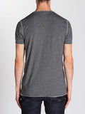 WORKSHOP SHORT-SLEEVE HENLEY IN HEATHERED GREY  - 2