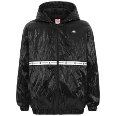 KAPPA AUTHENTIC JPN DEAN JACKET IN BLACK/WHITE