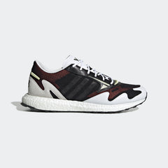 Y-3 RHISU RUN SNEAKERS IN BLACK/WHITE/YELLOW TINT