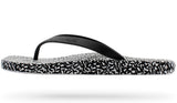PEOPLE FOOTWEAR YOKO FLIP FLOP IN BLACK RICE PRINT  - 1