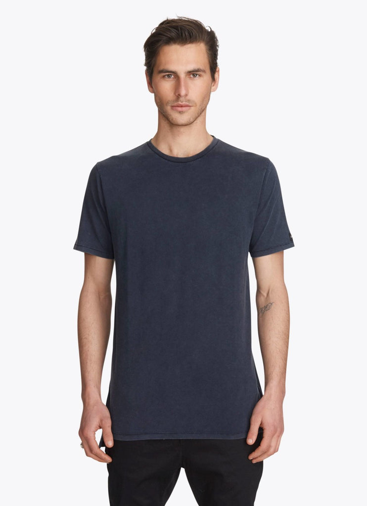 ZANEROBE FLINTLOCK TEE IN NAVY ACID  - 1