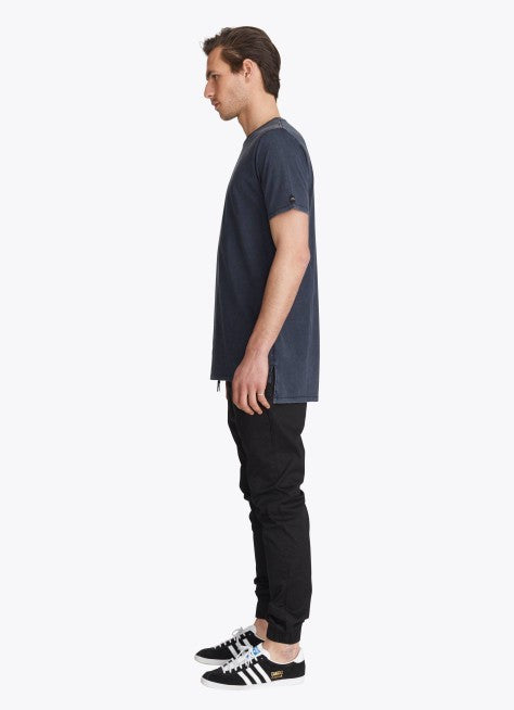 ZANEROBE FLINTLOCK TEE IN NAVY ACID  - 5