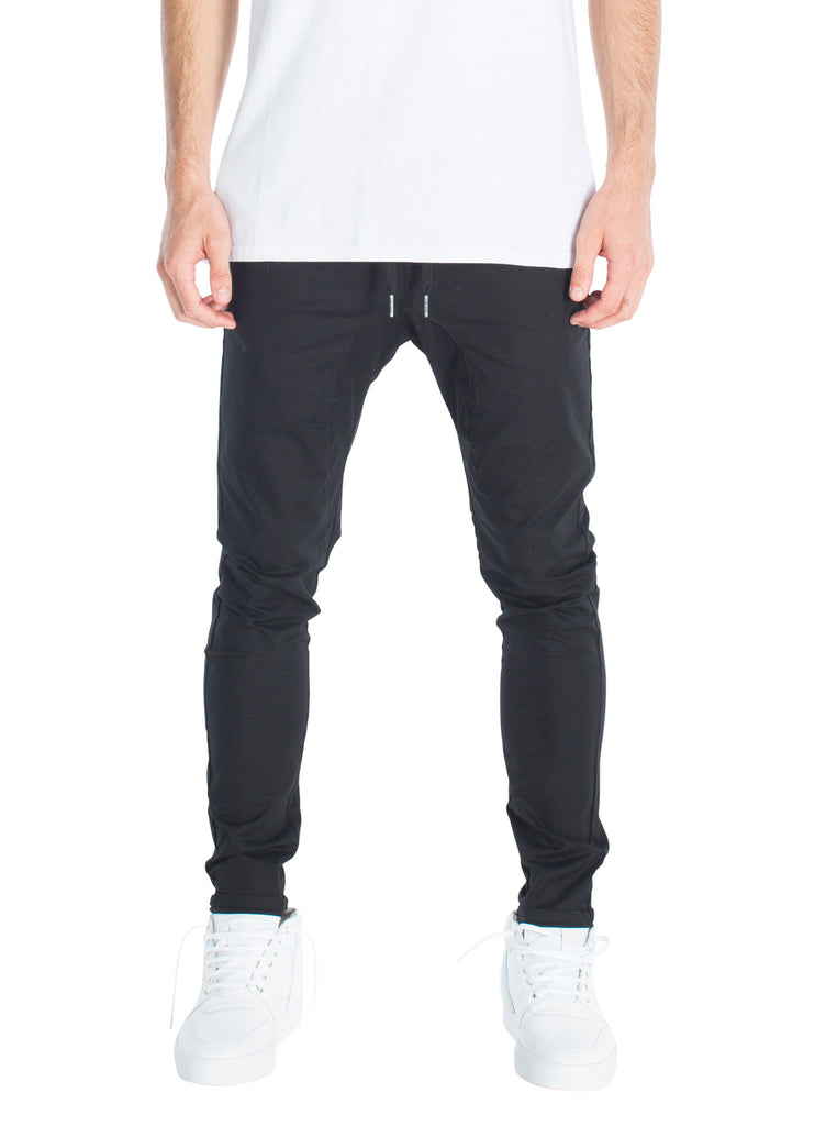 ZANEROBE SALERNO CHINO IN BLACK  - 1