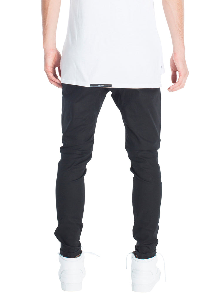 ZANEROBE SALERNO CHINO IN BLACK  - 3