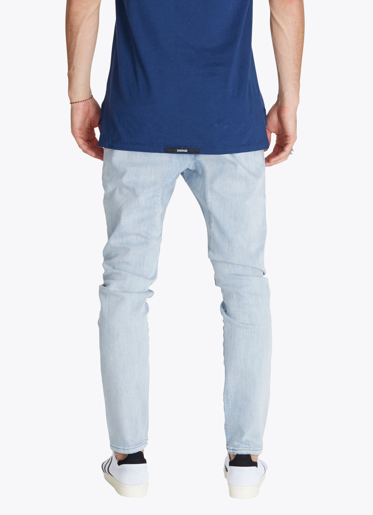 ZANEROBE SALERNO DENIM JEANS IN WHITE WASH  - 2