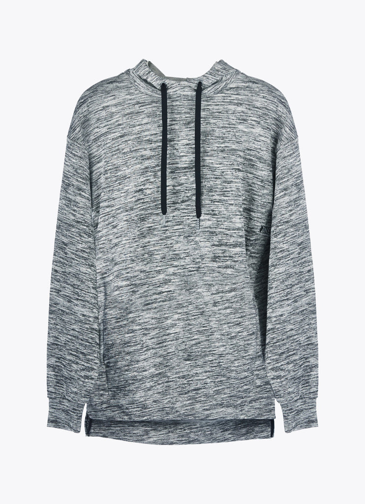 ZANEROBE RUGGER HOOD SWEATSHIRT IN STATIC GREY  - 1