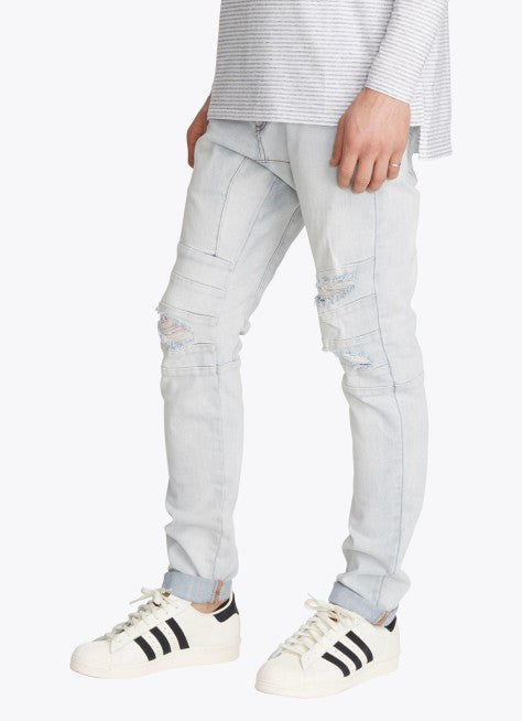 ZANEROBE SCRAMBLER DENIM JEANS IN BLONDE RIP  - 3