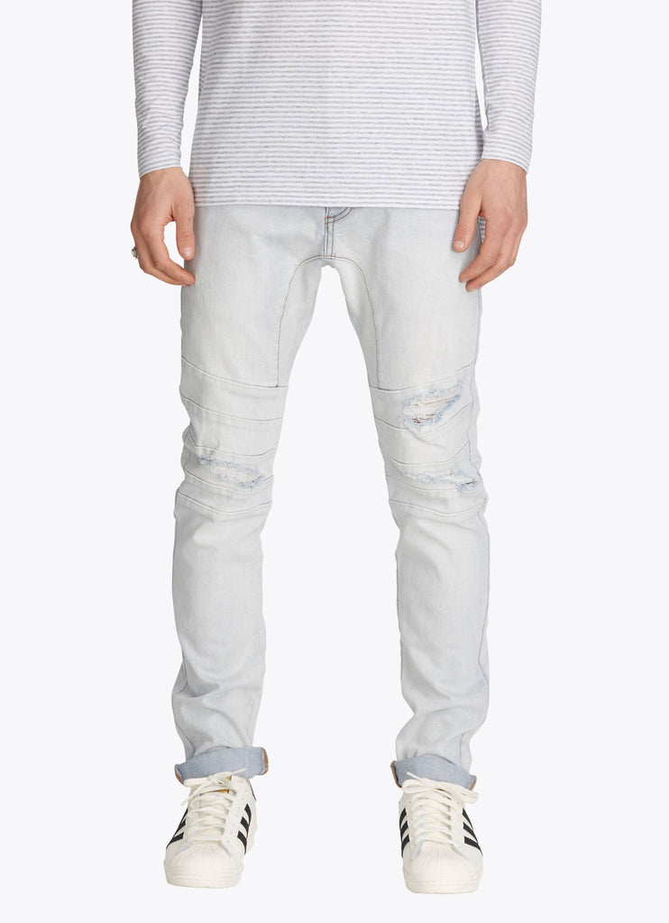 ZANEROBE SCRAMBLER DENIM JEANS IN BLONDE RIP  - 1