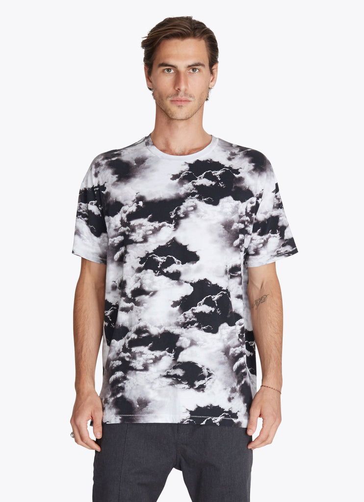 ZANEROBE RUGGER T-SHIRT IN CLOUDS PRINT