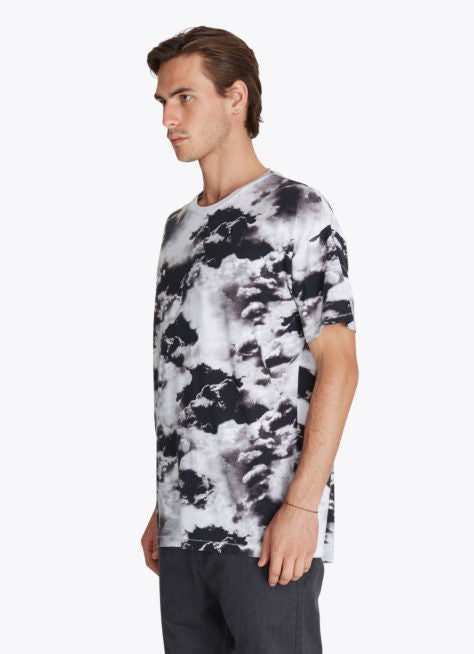 ZANEROBE RUGGER T-SHIRT IN CLOUDS PRINT  - 4