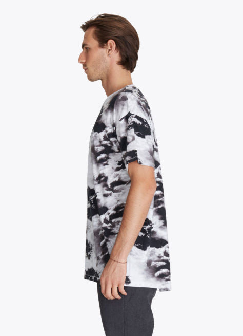 ZANEROBE RUGGER T-SHIRT IN CLOUDS PRINT  - 3
